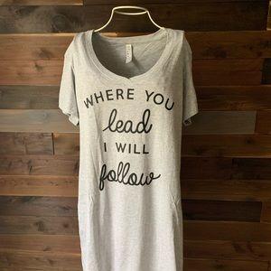 Other - Gray Gilmore Girls Sleep Dress Nightgown L/XL